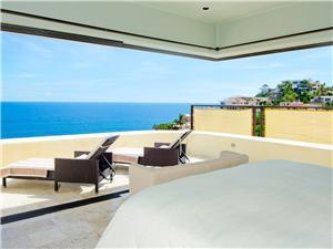 Panoramic ocean view from the bed