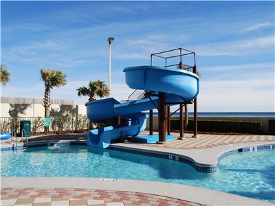 Launch into the Lazy River with this Awesome slide
