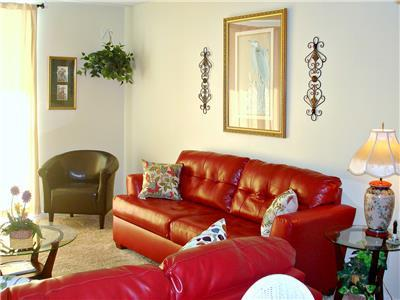Living Area  with New Sofa and Love Seat