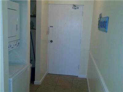 Condo Entrance and Washer Dryer