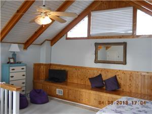 Bench seating upstairs