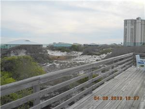 Large open deck area facing Gulf of Mexico