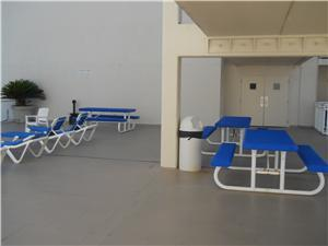 Outdoor furniture at Complex