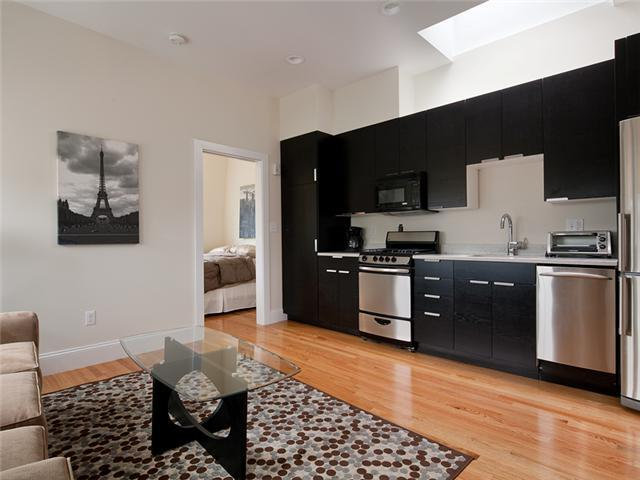 Kitchen and Living Room - Boston Rental, South End