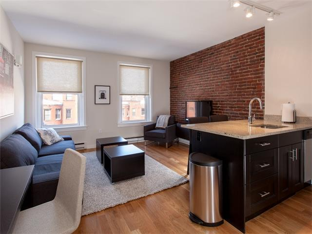 Living Room & Kitchen - Boston Rental, Back Bay
