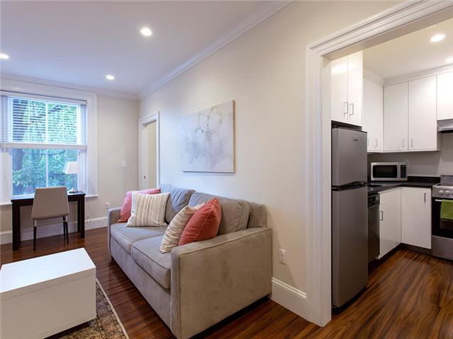 Beacon Hill, Boston - Living Room and Kitchen