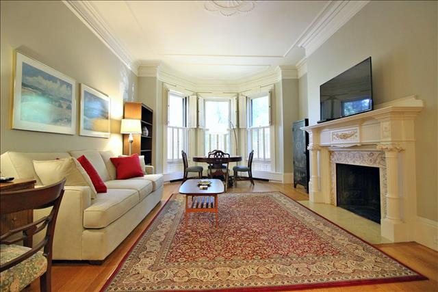 Living Room - Boston Furnished Rental , Back Bay