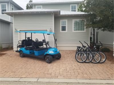 New 6 Seater Golf cart and 4 Bikes!