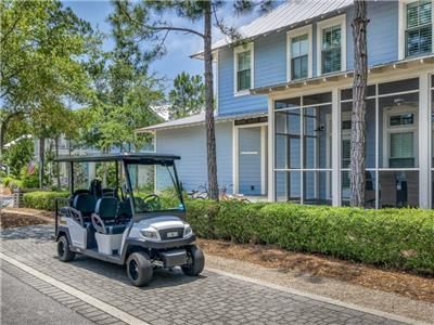 This home includes a 6-seater Golf Cart!