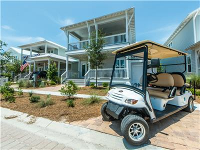 Book Now! 2020 Savings! 6 Seat Golf Cart! 4 Bikes, Pools!*, Beach!*- Southern Tide at NatureWalk 30A