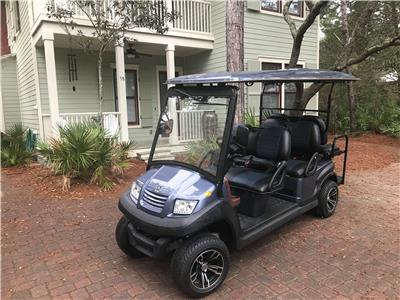 6 Seater Golf Cart Included for Your Convenience!
