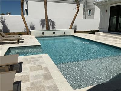 * Photo represents general layout of private pool*