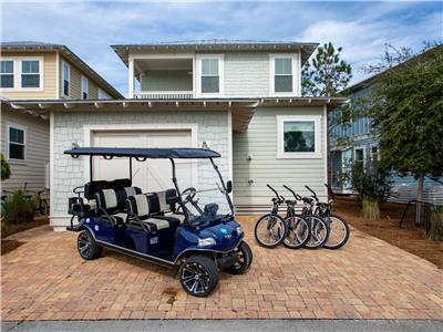 6-Seater Golf Cart Included with Every Reservation