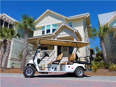 6 Seater Golf Cart and a 5 Bedroom Home!