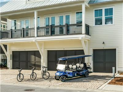 6 Seater Golf cart and 3 Bikes!!