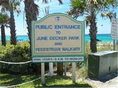 June White Decker Park - Public Beach Access
