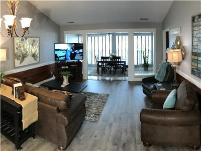 Open Space Living Area WIth HDTV-Fireplace