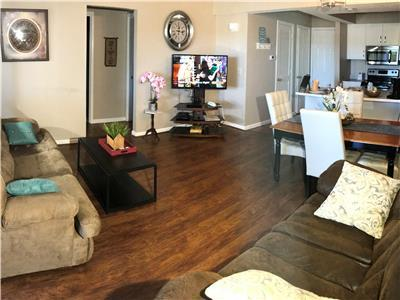 Large Living Room With 55 inch TV