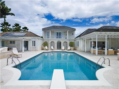 6 bedroom Georgian style villa with pool and tennis court at Sandy Lane