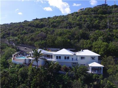 Hilltop Villa with views of the islands of Saba, St Kitts, St Barts