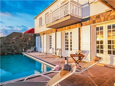 Enjoy St. Barths in this 5 bedroom villa just a short walk from many restaurants, shops and the beac