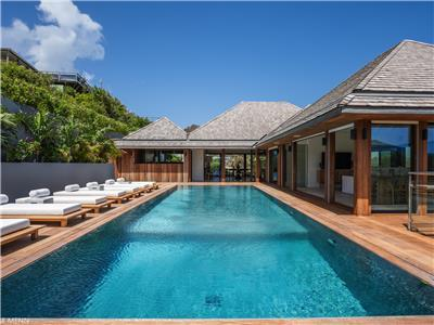 Enjoy your perfect family vacation in St. Barth in this 7 bedroom villa