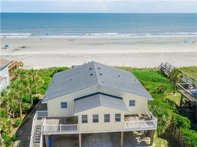 Mystic Tide- Folly Beach Ocean Front Vacation Rental Beach House