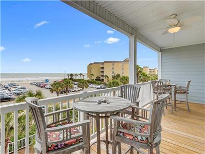 Folly Me to the Beach! Folly Beach Vacation Rental -Ocean View Condo with Pool & Easy Beach Access