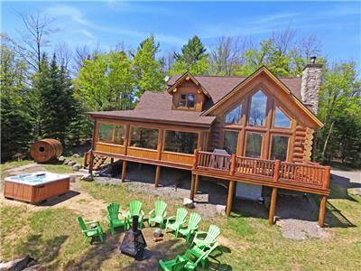 Cottage for Rent at Fiddler Lake - Blue Moose | Chalet Spa Nature