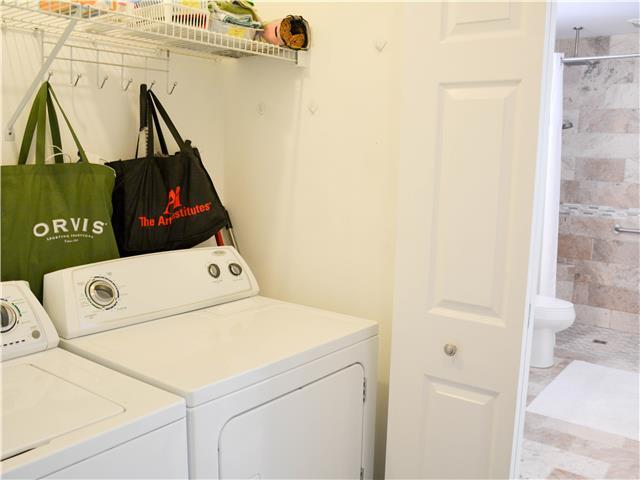Full sized washer/dryer located on main level.