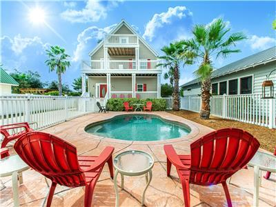 PRIVATE Pool! ☼Pet Friendly! Walk 2 Beach☼ 2X Sanitized ☼6BR Absolute Beach