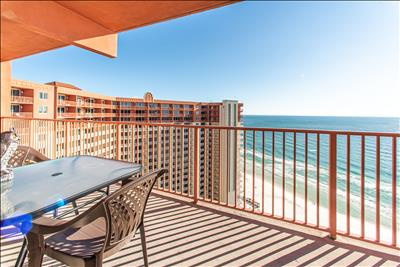 Gulf Views☼Lagoon Pool+Hot Tub☼Inspected & Disinfected☼1BR Shores of Panama 2213