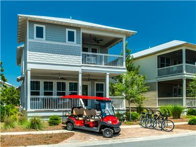 Features a NEW 6 Seater Golf Cart and 4 Bikes!