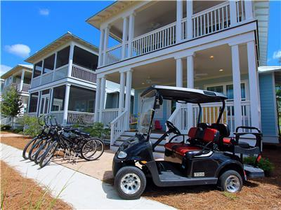 Golf Cart and Bikes Included!