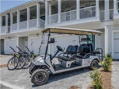 Features 6 Seater, Street Legal Golf Cart!