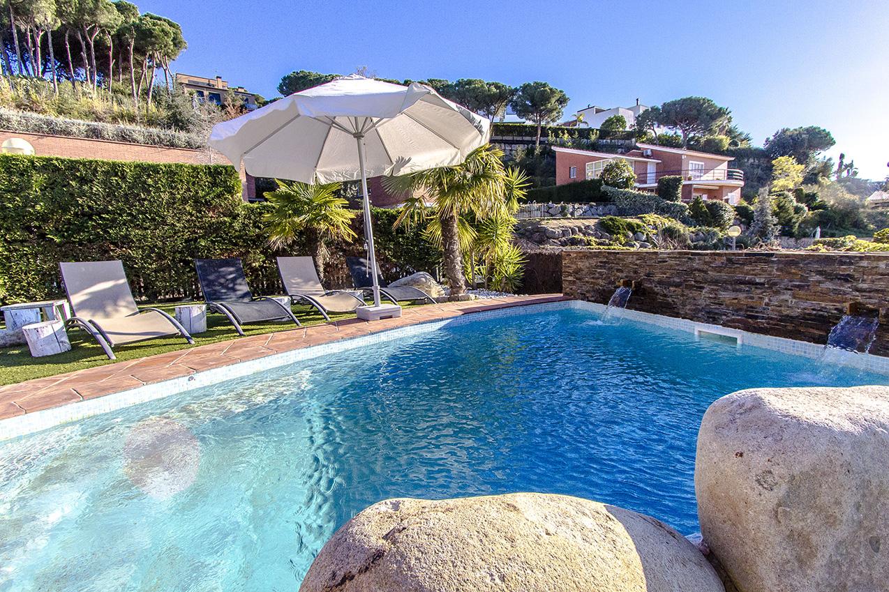 Ferienhaus Picturesque Seaside 3 bedroom villa in Caldes Estrach,with private pool! (1890834), Caldes d'Estrac, Costa del Meresme, Katalonien, Spanien, Bild 31