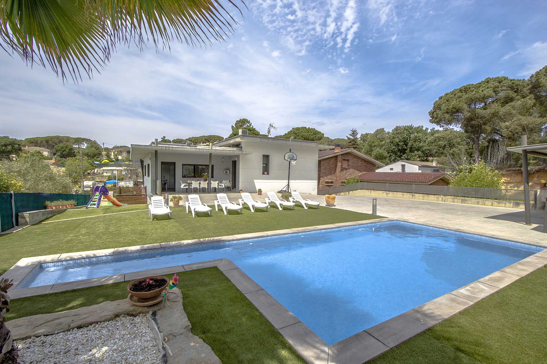 Ferienhaus Catalunya Casas: Modern villa in Sils, 15 min drive to Costa Brava beaches! (1902227), Les Mallorquines, Girona, Katalonien, Spanien, Bild 1