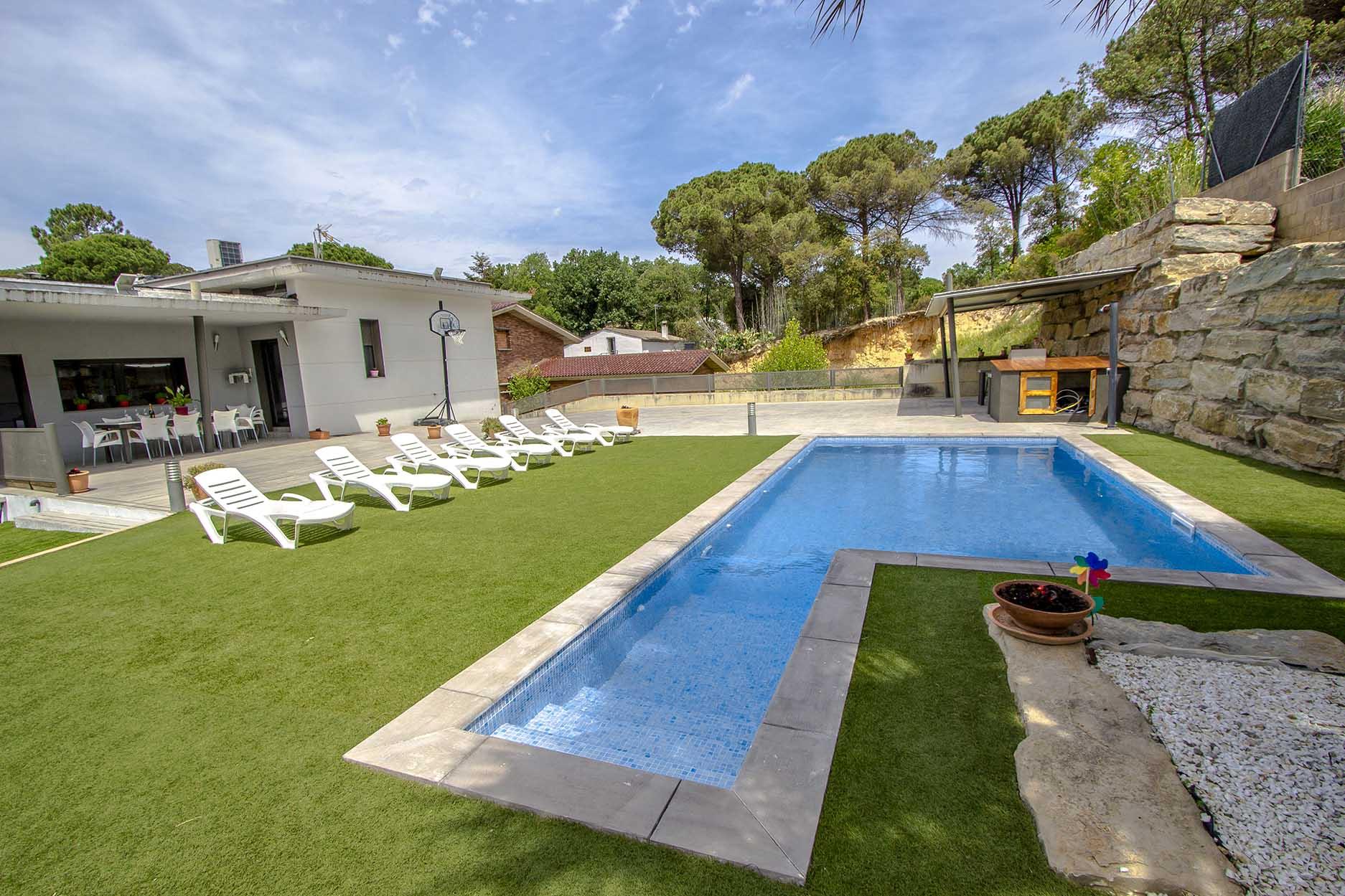Ferienhaus Catalunya Casas: Modern villa in Sils, 15 min drive to Costa Brava beaches! (1902227), Les Mallorquines, Girona, Katalonien, Spanien, Bild 6