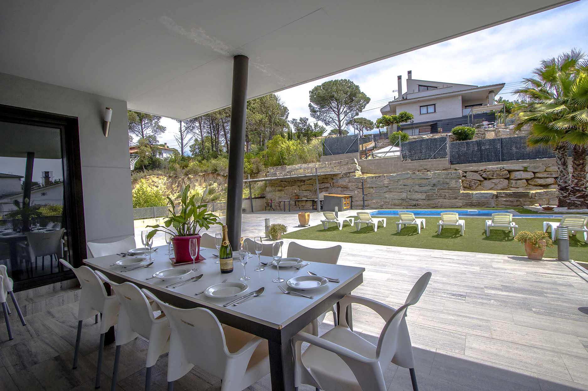 Ferienhaus Catalunya Casas: Modern villa in Sils, 15 min drive to Costa Brava beaches! (1902227), Les Mallorquines, Girona, Katalonien, Spanien, Bild 8