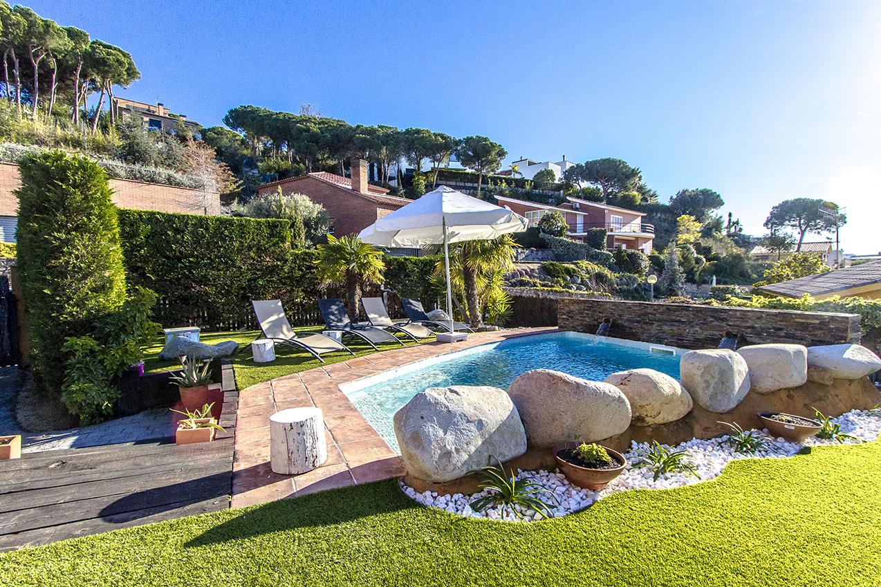 Ferienhaus Picturesque Seaside 3 bedroom villa in Caldes Estrach,with private pool! (1890834), Caldes d'Estrac, Costa del Meresme, Katalonien, Spanien, Bild 30